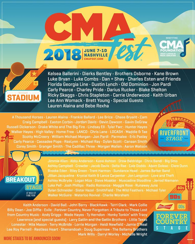 CMA 2018 LineUp