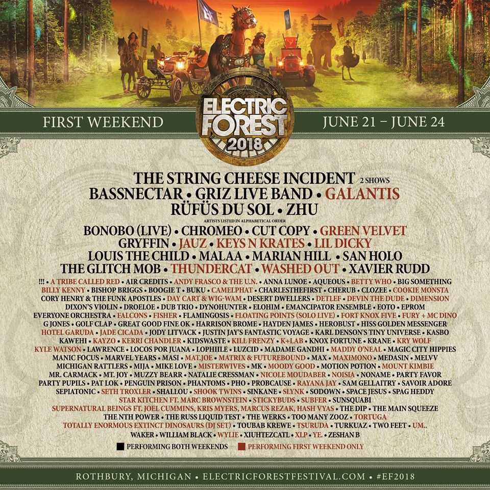 Electric Forest Music Festival 2018 Wkend 1