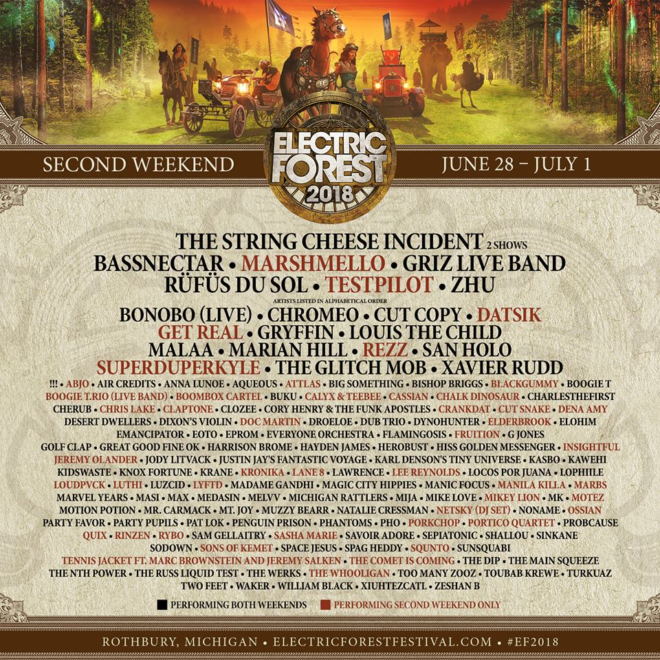 Electric Forest 2018 Wkend 2