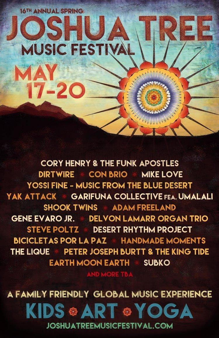 Joshua Tree Music Fest 2018 Lineup