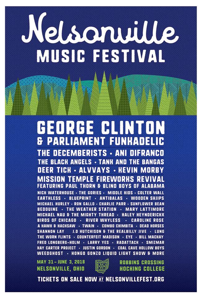 Nelsonville Music Fest 2018 LineUp