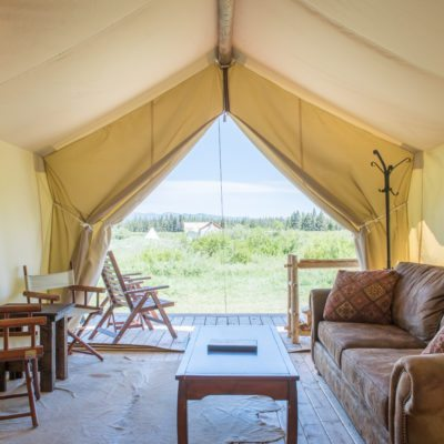 Glamping Tent in Yellowstone