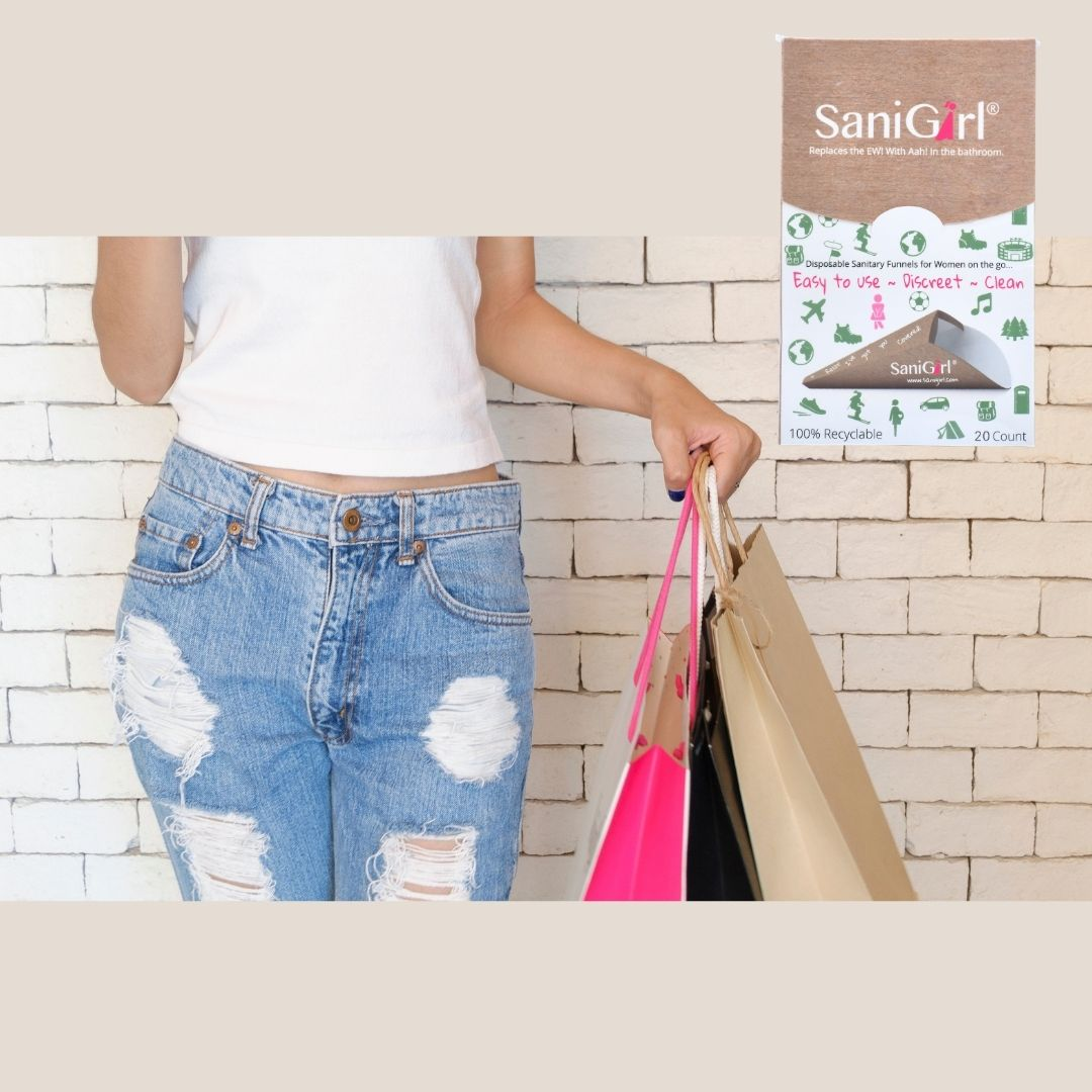 New Year's Reolutions tips Girl Jeans Shopping bags SaniGirl